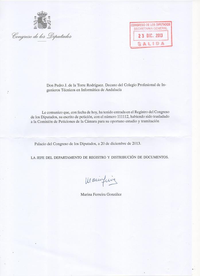 Carta Congreso enero 2013