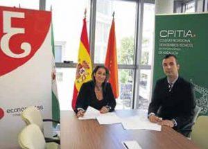 Firma convenio economistas almeria