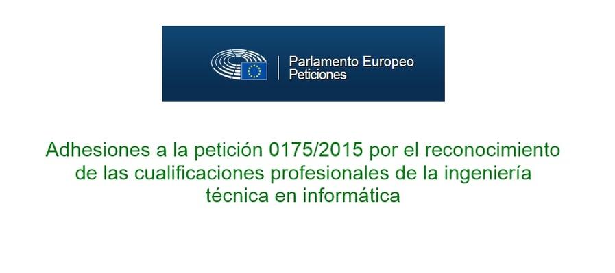 Peticion Parlamento Europeo regulación informática